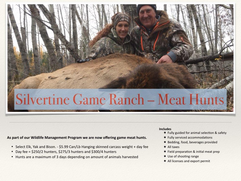 Silvertine Meat Hunt